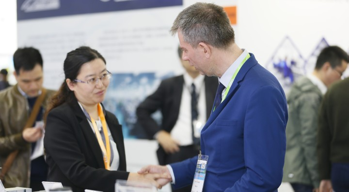 Handshake at LASER World of PHOTONICS CHINA